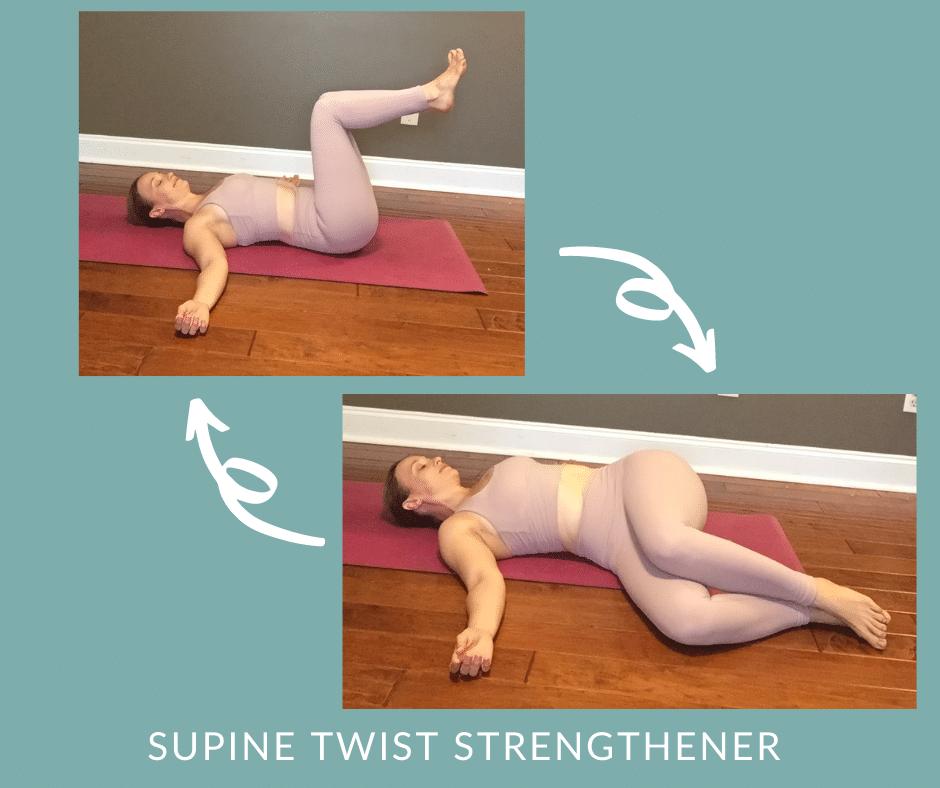Postpartum Core Yoga   Reclined Twist